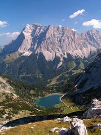 Zugspitze as seen from near Coburger hut