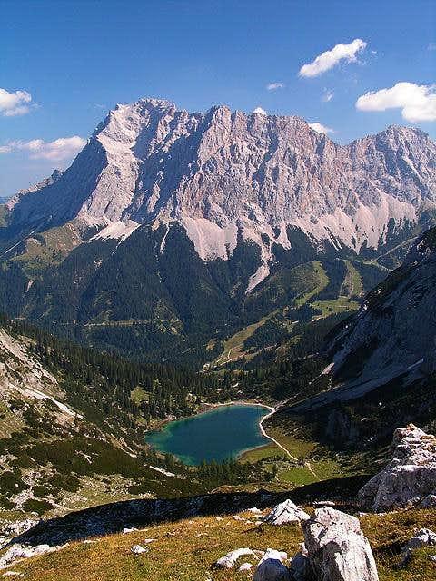 Zugspitze as seen from near Coburger hut