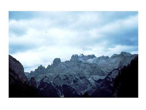 The Cristallo massif seen...