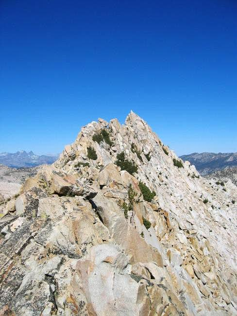 Looking north to the summit...
