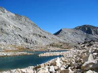 The talus-strewn upper lakes...