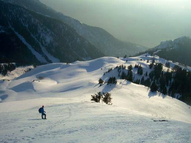 Winter Descent. Wish I had a...