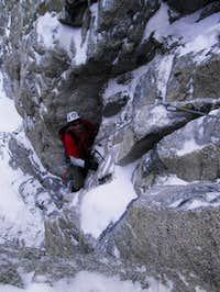 First crux rock pitch Mt....