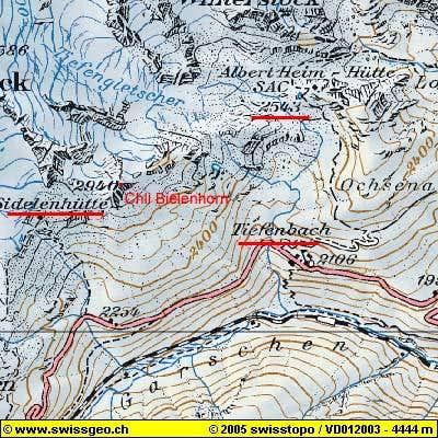 Map of Chli Bielenhorn area....