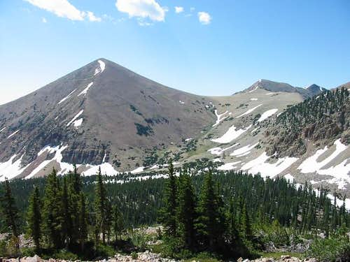 Pyramid Peak with prominent...