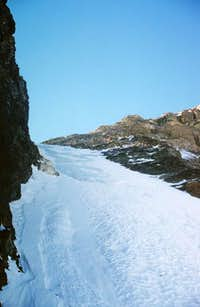 The couloir in late Nov. 2005...