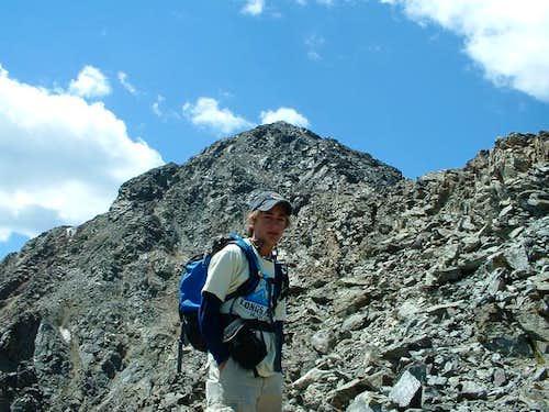 Ascending the Kelso ridge. We...