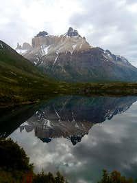 Los Cuernos reflected in Lago Scottsberg