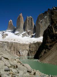 Los Torres from the mirador....
