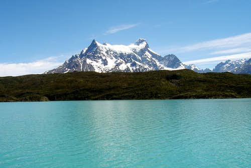 Paine Grande from Lago Pehoe....