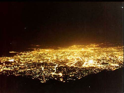 View of Tehran at night from...