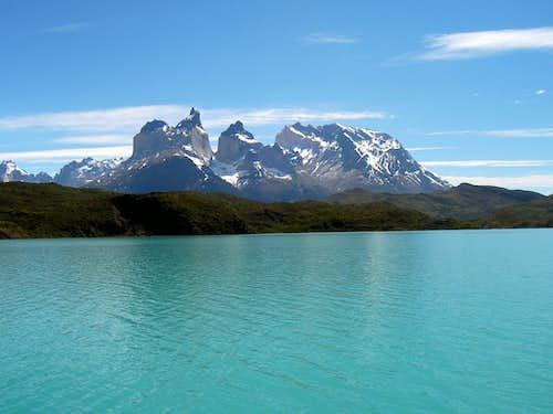 Los Cuernos from Lago Pehoe....
