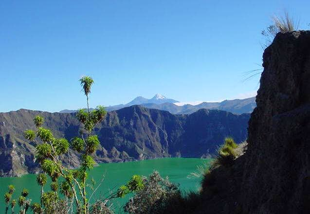 View from Quilotoa crater rim...