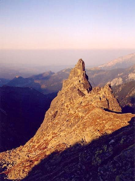 Mnich (The Monk) crag from...