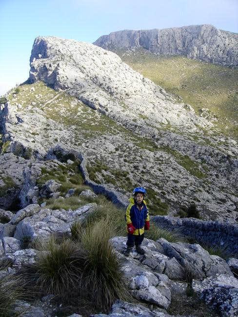 Climbing slowly up towards...