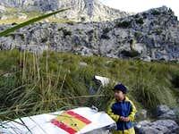 High valley between Morro de...