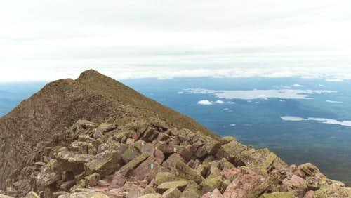 Looking from the summit...