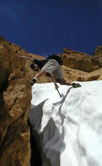 Descending the west ridge of...
