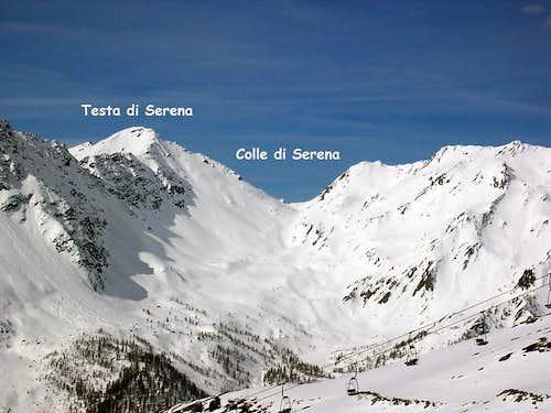 The ski mountaneering route...