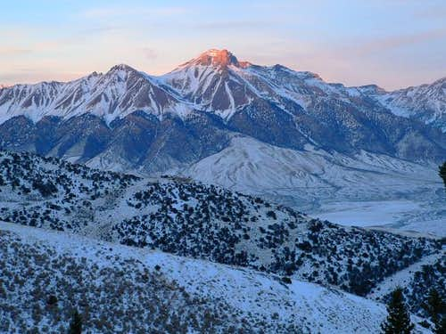 Mount McCaleb in December...