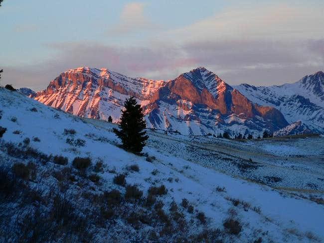 Donaldson Peak (right) and...