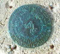 USGS Marker at Summit