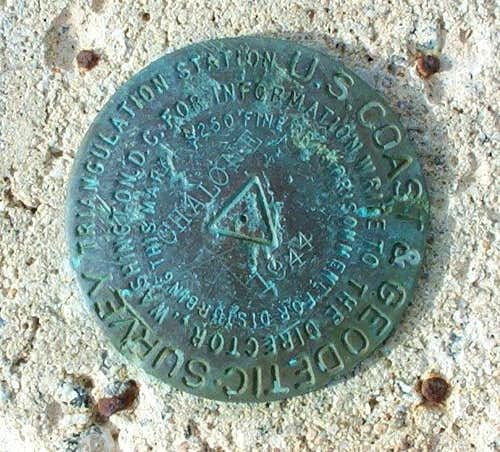 USGS Marker at Summit