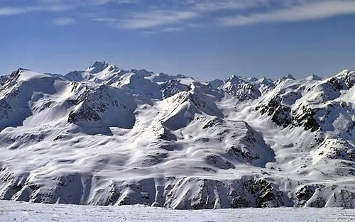 View to the Oetztal Alps seen...