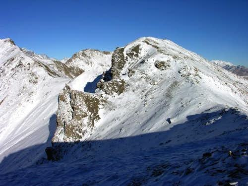 La punta Leisse (2771 m),...