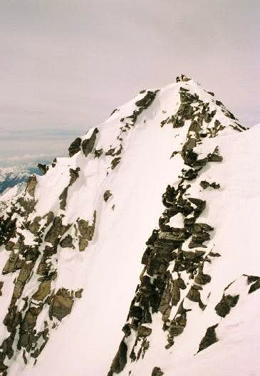 The summit seen from the...