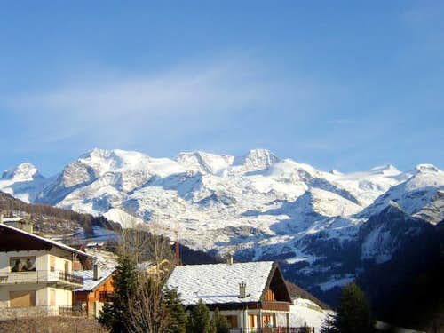 Monterosa on the morning from...