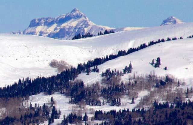 Rare view of Hayden Peak in...