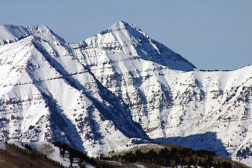 North Timpanogos, one of the...