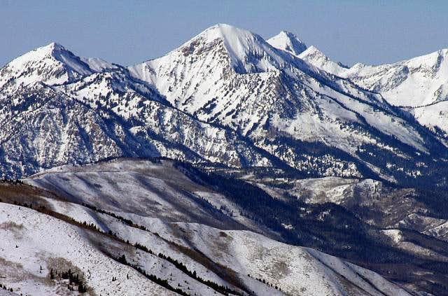 South face of Box Elder Peak,...