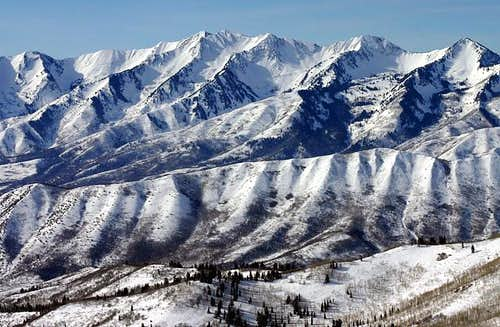 From the west (Utah Valley),...