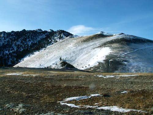 Mackay Peak's north ridge...