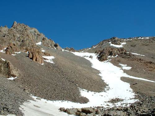 A closer view of the couloir.