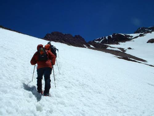 Approaching the summit, seen...