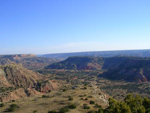 Palo Duro Canyon extends out...