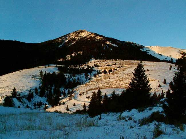 Mackay Peak at sunrise from...