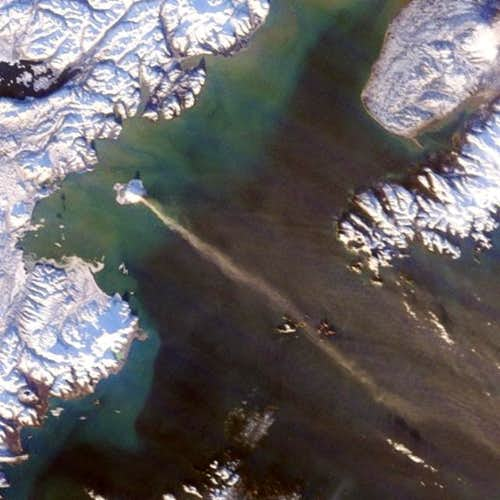 Satellite image showing steam...