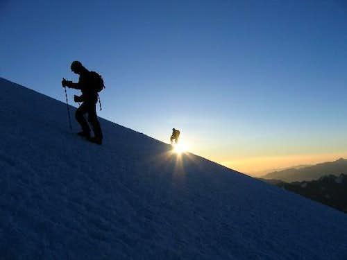 Sunrise on Elbrus on a...