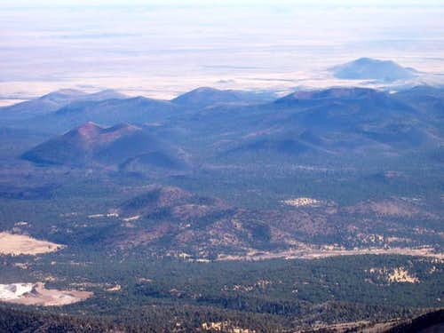 Sunset Crater (left-center),...