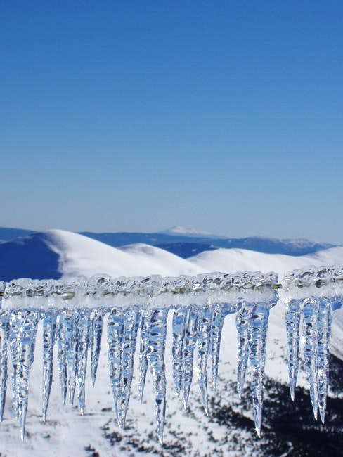 The snow-capped Moncayo...