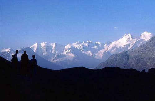Bernina group from north,...
