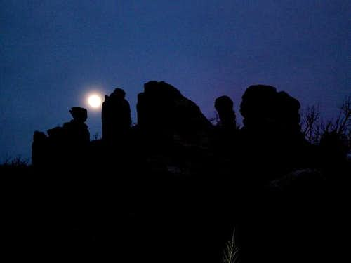Moonrise over the east wall...