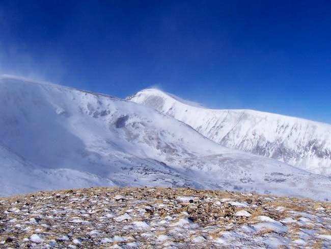 Quandary Peak (center) and...