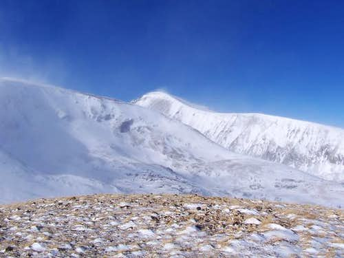 Quandary Peak (center) and...