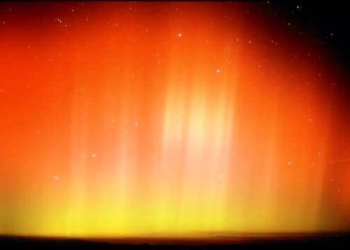 Aurora Borealis during impact...