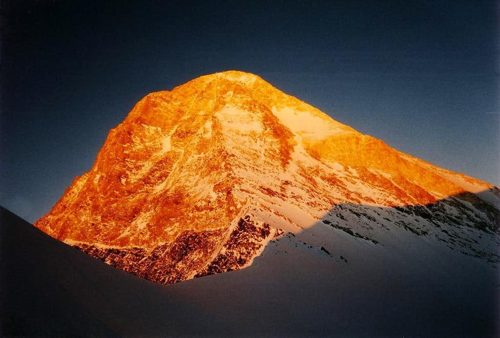 Sunset over Khan Tengri's summit